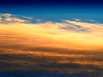 High altitude sunset clouds background stock photos