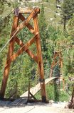 High altitude suspension bridge Stock Photos