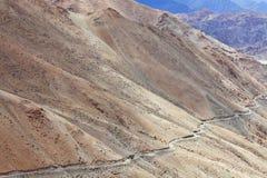 High-altitude väg Fotografering för Bildbyråer