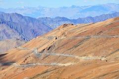 High-altitude väg Arkivfoto