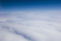 High altitude view of clouds. Heaven? Royalty Free Stock Photography