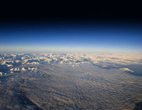 High altitude view of the Dolomites. Stock Image