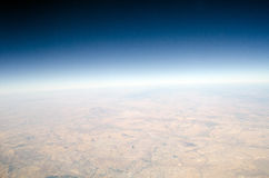 High altitude view of the Earth. High altitude view panarama of the Earth royalty free stock photography