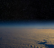 High altitude view of the Earth in space. Royalty Free Stock Photo