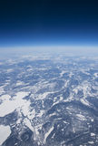 High altitude view of the frozen tundra in Arctic Royalty Free Stock Photos
