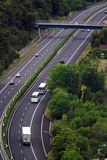 High altitude view of italian highway Stock Photography