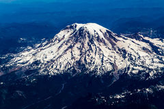 High Altitude View of Mount Rainier, Washington. royalty free stock photography