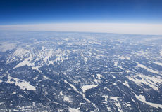 Free High Altitude View Of The Frozen Tundra In Arctic Royalty Free Stock Image - 22491706