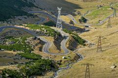 High altitude winding road in Carpathians mountains Stock Photography
