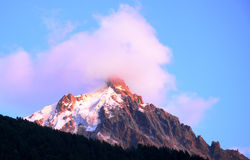 Aiguille du Midi - Alps Royalty Free Stock Images