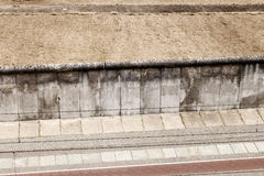 East-West Berlin Original Border Section. High angle abstract view of a section of the original east-west Berlin border and wall, viewed from the tower of the Royalty Free Stock Photos
