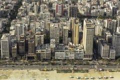High angle aerial view of Ipanema Beach in Rio de Janeiro Stock Photography