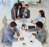 High angle of business people working Stock Images
