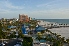 High angle of clearwater beach Royalty Free Stock Photo