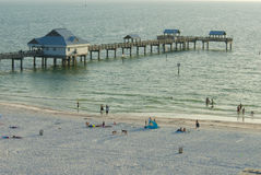 High angle of clearwater pier Royalty Free Stock Photography