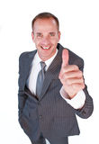 High angle of a friendly businessman with thumb up Royalty Free Stock Photos