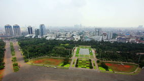 High angle jakarta city view Stock Photos