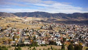 High Angle Overlook Walkerville Montana Downtown USA United States stock video footage