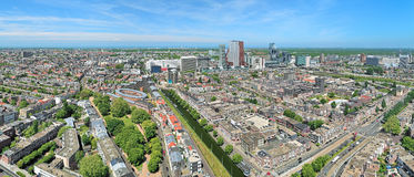 High angle panoramic view of The Hague, Netherlands Stock Image