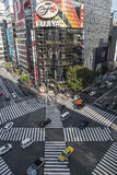 High angle of people across the crosswalk Royalty Free Stock Image
