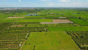 High angle photo showing Thai farming area Royalty Free Stock Photo
