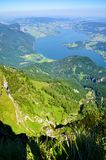 High Angle Photography of Green Grass and Tree Covered Mountain Royalty Free Stock Photography