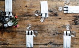 High-angle Photography of Utensils With Napkins Stock Photo