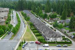 High Angle shot of a Block in Canada Royalty Free Stock Photo