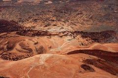 High Angle Shot Of Desert Mountain Stock Photography