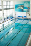 High angle shot of empty swimming pool Stock Photos