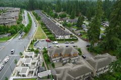 High Angle shot of a Street in Canada Royalty Free Stock Image