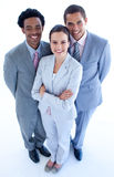 High angle of smiling business team Royalty Free Stock Photo