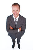 High angle of a smiling businessman Royalty Free Stock Photography
