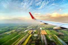 High angle view from airplane Stock Photo