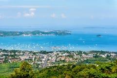 High angle view Ao Chalong bay Stock Images