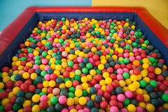 High angle view of ball pool Stock Photo