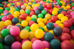 High angle view of ball pool Royalty Free Stock Photos