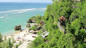 High angle view of Beach at Bali island Royalty Free Stock Image
