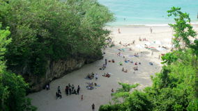 High angle view of Beach at Bali island Stock Images
