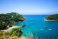 High angle view beautiful landscape of the island Stock Photo