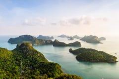 High angle view Mu Ko Ang Thong Royalty Free Stock Images