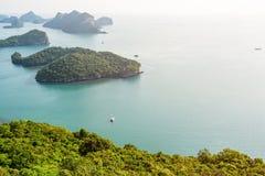 High angle view Mu Ko Ang Thong Stock Image