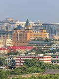 High angle view on Beijing city center, China Stock Photography