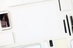 A high angle view of blank paper Royalty Free Stock Photography