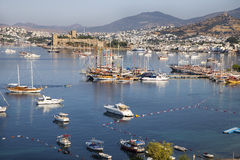 High angle view of Bodrum Castle Stock Photo