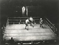 High angle view of boxing match Royalty Free Stock Photography