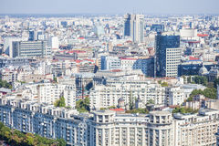 High angle view of Bucharest Stock Images