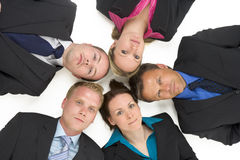 High Angle View Of Business People Royalty Free Stock Photos