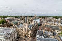 High angle view of Cambridge. High angle view of the city of Cambridge, UK Stock Photo
