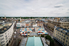 High angle view of Cambridge. High angle view of the city of Cambridge, UK Royalty Free Stock Image